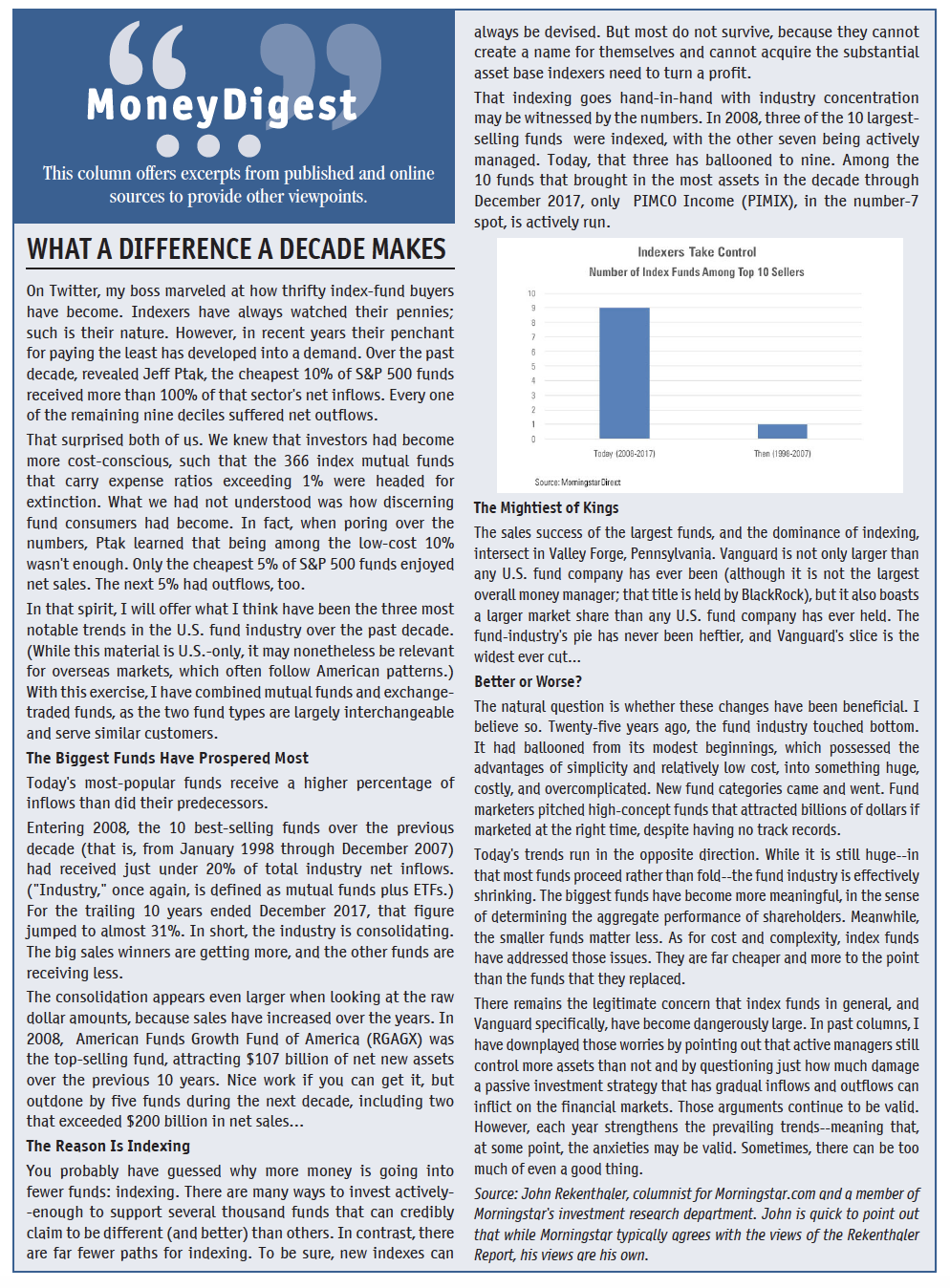 MoneyDigest July/August 2018